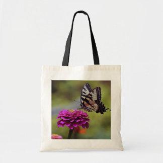 Mariposa amarilla de Swallowtail Bolsas De Mano