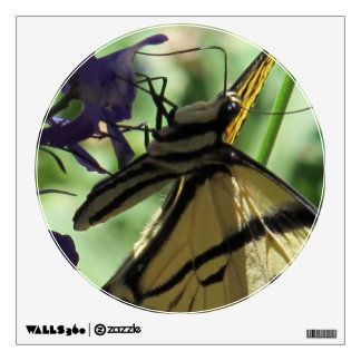 Mariposa amarilla de Swallowtail Vinilo Adhesivo