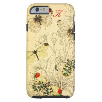 Mariposa amarilla funda de iPhone 6 tough