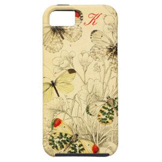 Mariposa amarilla iPhone 5 carcasa