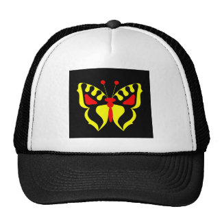 Mariposa amarilla gorro