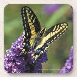 Mariposa amarilla I - sistema de 6 prácticos de Posavasos De Bebida