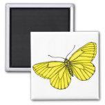 Mariposa amarilla iman para frigorífico