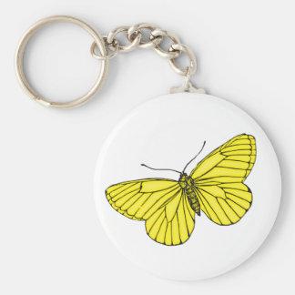 Mariposa amarilla llaveros personalizados