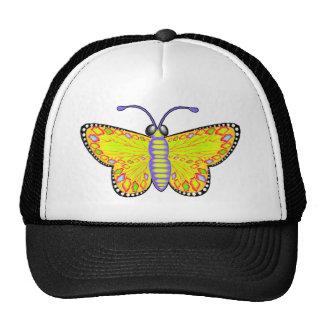 Mariposa amarilla luminosa gorros