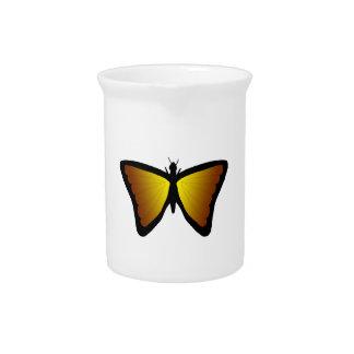 """Mariposa amarilla/marrón "" Jarra De Beber"