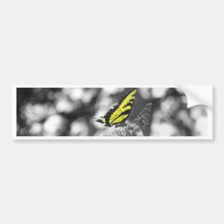 Mariposa amarilla pegatina para auto