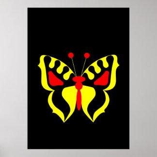 Mariposa amarilla póster