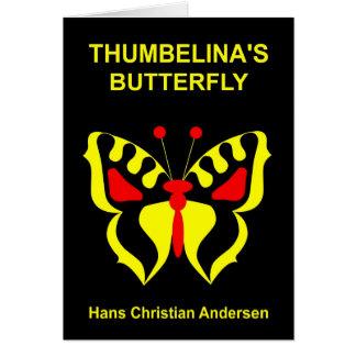 Mariposa amarilla tarjeta de felicitación