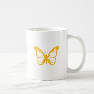 Mariposa amarilla taza de café