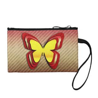 Mariposa amarilla y roja brillante