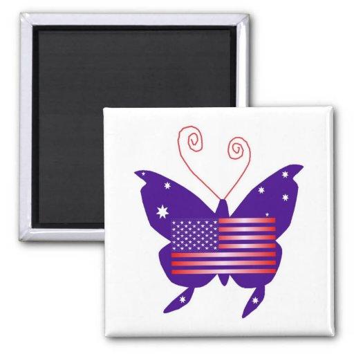 Mariposa americana de la diva imanes