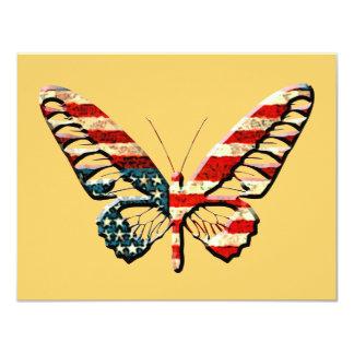 """Mariposa americana invitación 4.25"""" x 5.5"""""""