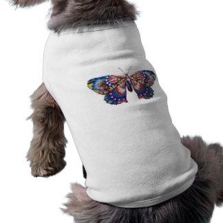 Mariposa americana playera sin mangas para perro