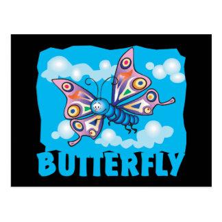 Mariposa amistosa del niño tarjetas postales