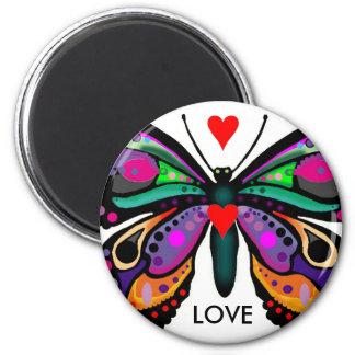 Mariposa AMOR Iman Para Frigorífico