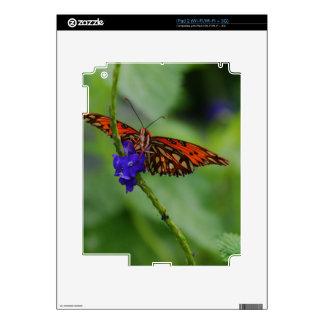Mariposa anaranjada iPad 2 calcomanía