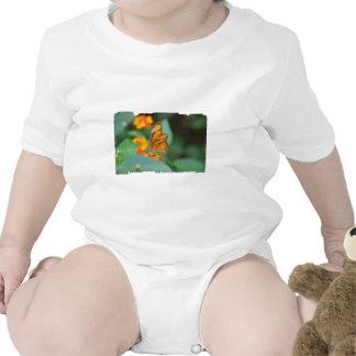 Mariposa anaranjada minúscula trajes de bebé