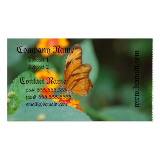 Mariposa anaranjada minúscula tarjetas de visita