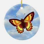 Mariposa anaranjada ornamento para reyes magos