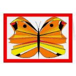 Mariposa anaranjada tarjeta