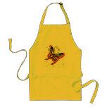 Mariposa anaranjada y amarilla delantales