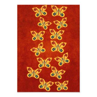 """Mariposa andina invitación 5"""" x 7"""""""