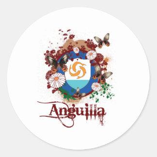 Mariposa Anguila Pegatinas Redondas