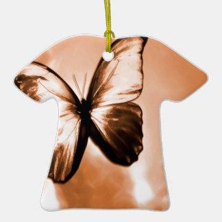 Mariposa animal abstracta Brown Adorno