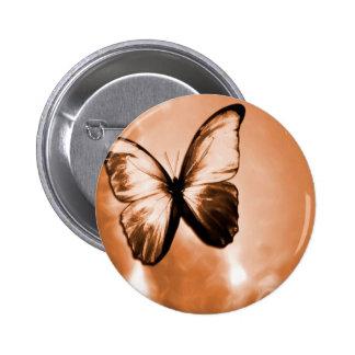 Mariposa animal abstracta Brown Pin
