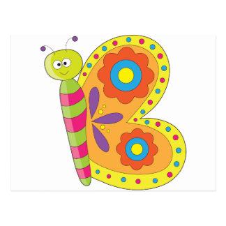 Mariposa animal del alfabeto postales