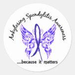 Mariposa Ankylosing 6,1 de Spondylitis Pegatina Redonda
