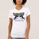 Mariposa antisocial camisetas