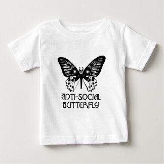 Mariposa antisocial playera de bebé