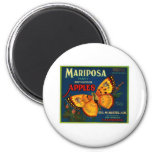 Mariposa apples 2 inch round magnet
