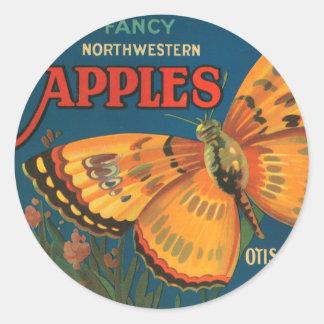Mariposa Apples Classic Round Sticker