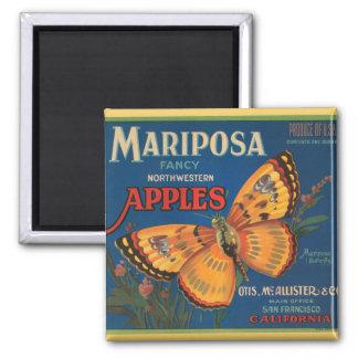 Mariposa Apples Fruit Crate Label Magnet