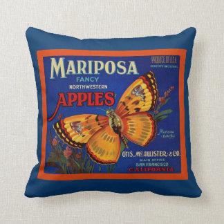 Mariposa Apples Throw Pillow
