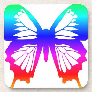 Mariposa - arco iris posavaso