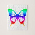 Mariposa - arco iris puzzle con fotos