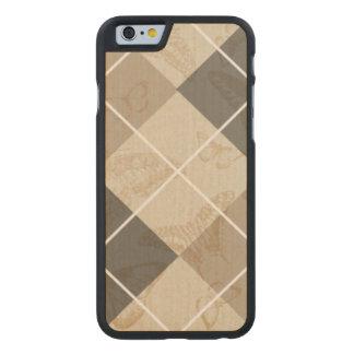 Mariposa Argyle Funda De iPhone 6 Carved® De Arce