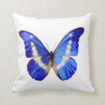 Mariposa azul - almohada de tiro