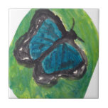 Mariposa azul azulejos