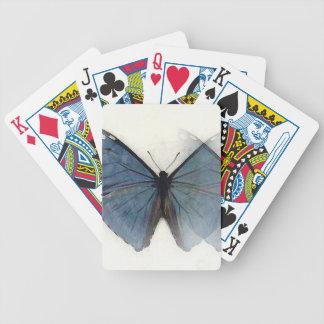 Mariposa azul barajas de cartas