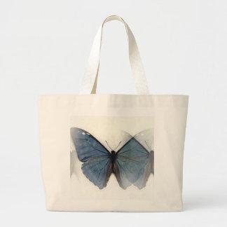 Mariposa azul bolsa tela grande