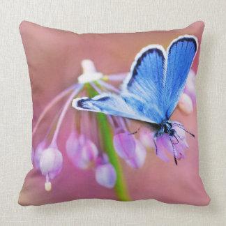Mariposa azul cojín