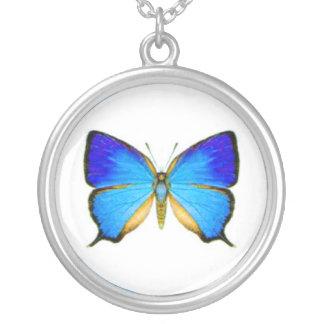 Mariposa azul colgante redondo