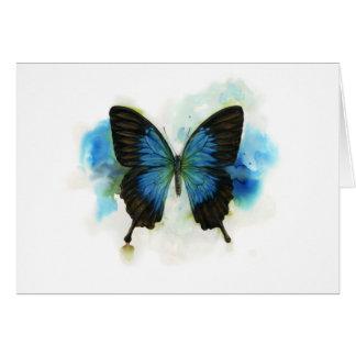 Mariposa azul cuaesquiera efectos de escritorio de tarjetas