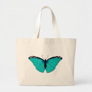 Mariposa azul de la historia natural en la bolsa d