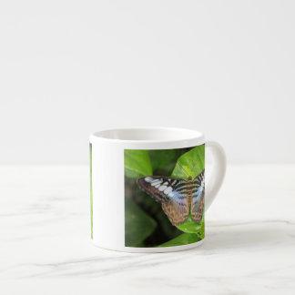 Mariposa azul de las podadoras taza espresso